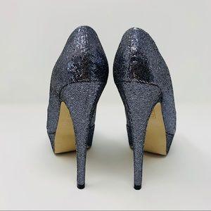 Aldo Shoes - Aldo Berthina Open Toe Glitter Platform Heels